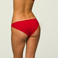 Red Panties Lingerie - Basic Bikini  - Small