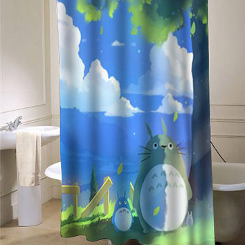 totoro summer shower curtain customized design for home decor