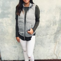 Brodie Quilted Vest - Gray