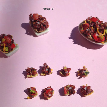 Miniature 1:12 Scale Nachos Dinner Set