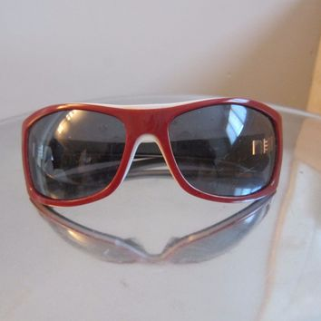 Oakley Sideways Sunglasses Brick Red with Grey lense