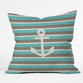 Bianca Green Anchor 1 Throw Pillow