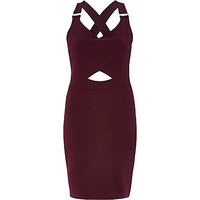 River Island Womens Red cut out bodycon mini dress
