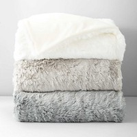 Hudson Park Faux Fur Colored Throw | Bloomingdale's