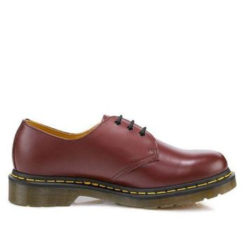 dcd345d53de CREYONIG Dr Martens 1461 - Cherry Red Smooth Lace-Up Oxford