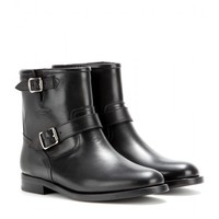 saint laurent - motorcycle leather biker boots