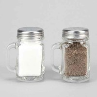 Mason Jar Salt and Pepper Shaker-Set Of 2- Clear One