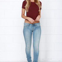 Dittos Jessica Light Wash Skinny Jeans