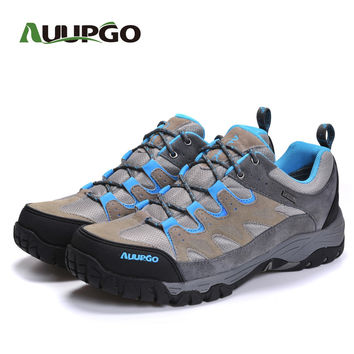 Cow leather hiking shoes men waterproof outdoor shoes women sneakers shoes A749