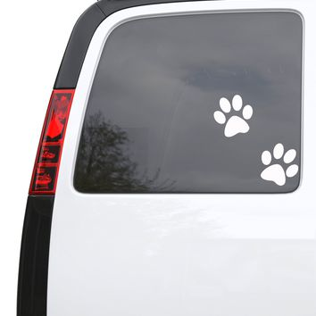 "Auto Car Sticker Decal Cartoon Wolf Paw Prints Truck Laptop Window 5"" by 5.4"" Unique Gift m355c"