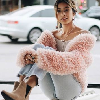 Boxy Faux Fur Jacket