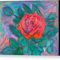 Rose Hope Canvas Print / Canvas Art by Kendall Kessler