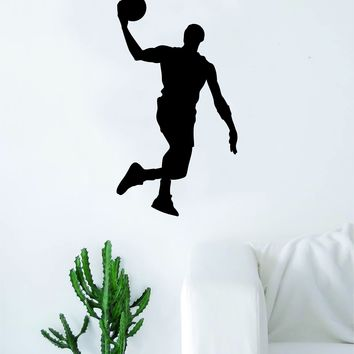 Basketball Dunk V1 Wall Decal Quote Vinyl Sticker Decor Bedroom Living Room Teen Kids Nursery Sports NBA Ball is Life Dunk