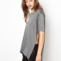 Cheap Monday Long T-Shirt With Side Split