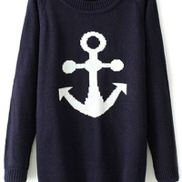 Nautical Style Pullover Sweater - OASAP.com