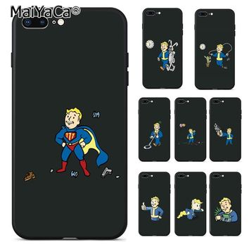 MaiYaCa pip boy fallout  Coque Shell Phone Case  for Apple iPhone 8 7 6 6S Plus X 5 5S SE 5C Cover