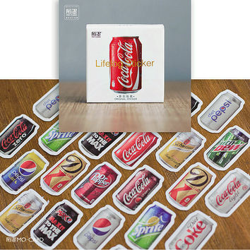 45pcs/pack Coke bookmarks Diary Stickers Pack Post it Planner Scrapbooking Sticky Stationery Escolar 2016 New School Supplies