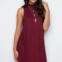 Say It Swing Dress - Burgundy