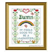 Andrew Dice Clay - There was an old lady Counted cross stitch 5X7 dirty nursery rhyme