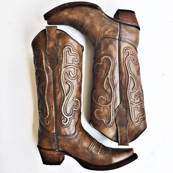Corral Women's Tan Leather Boots