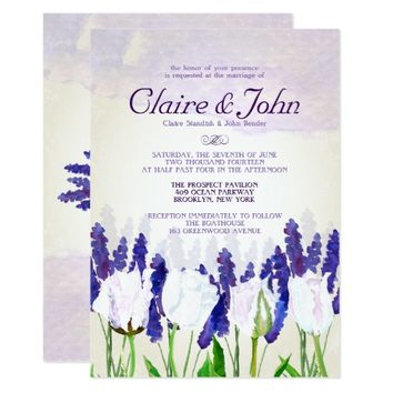 Tulips and Lavender Wedding Invitations