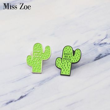 Mexican cactus enamel pin Prick plant badge brooches icons Lapel pin for Denim Jeans shirt bag Funny jewelry Gift for friends