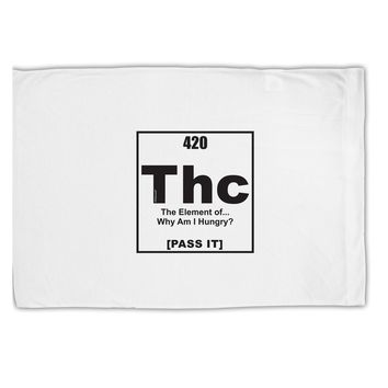 420 Element THC Funny Stoner Standard Size Polyester Pillow Case by TooLoud