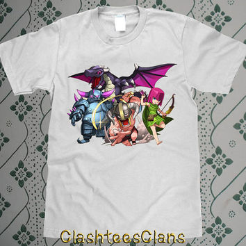 clash of clan characters 1st funny clash of clan games tees