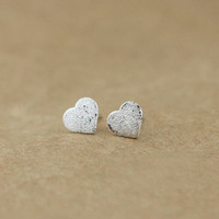 accessoryinlove — Semi-frosted 925 Sterling Silver Earrings