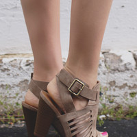 Breaking Point Heels - Taupe