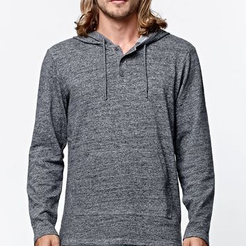 On The Byas Logan Henley Hooded Shirt - Mens Shirt