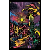 (24x36) Lost Horizon (Landscape) Flocked Blacklight Poster Print