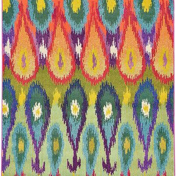 9924 Multi Abstract Modern Contemporary Area Rugs