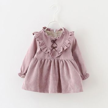 New Winter Newborn Dress Infant Baby Clothes Dress For Girl Clothing Princess Party Christmas Dresses Baby Spring 4ds101