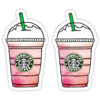 'Starbucks' Sticker by clairechesnut