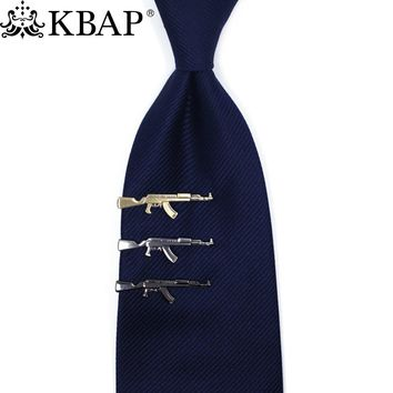 Men's Novelty Metal Tie Bar Tie Clip 47-Gun Necktie Clamp Clasp  Gifts for Him