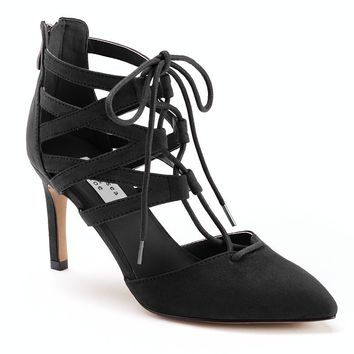 Chelsea & Zoe Kia Women's Strappy Lace-Up High Heels
