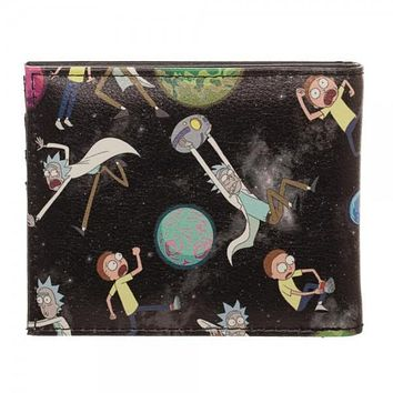 Rick and Morty Black BiFold Wallet