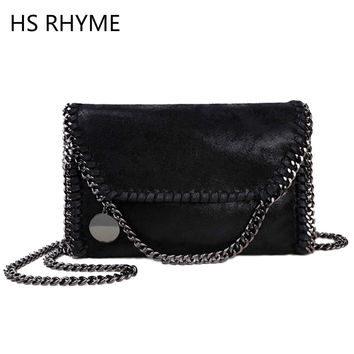 HS RHYME Women Messenger Bags Pu Fashion Portable Evening Chains Hobo Borsa Shoulder Clutch Bolso Female Carteras Mujer Handbags