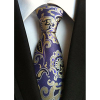 The Paisley Tie-Purple/Gold