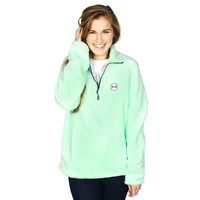 1/4 Zip Fleece in Mint Julep by the Fraternity Collection