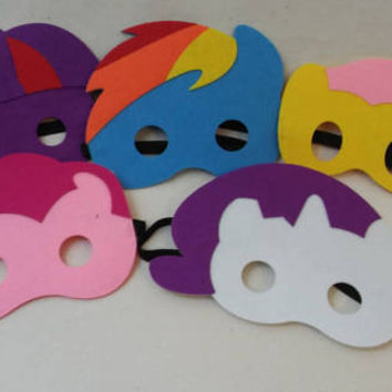 My Little Pony Party Favor Masks _ My Little Pony Birthday Party Costume Dress Up