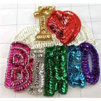 """I LOVE BINGO Word Spelled out with White Background 5"""" x 5"""""""