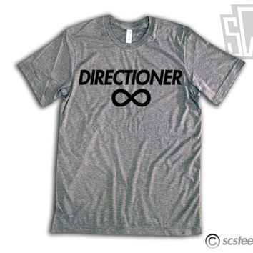 """One Direction """"Directioner"""" Vintage Fit Triblend Shirt - 1D Summer Trends, Harry Styles, Niall Horan, Zayn Malik, Louis Tomlinson 011"""