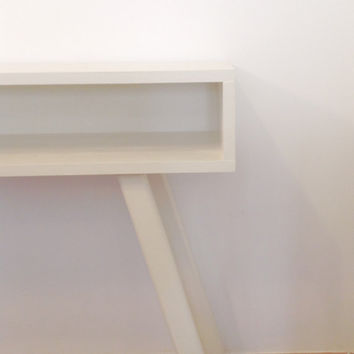 White Console Table, Mid Century Modern Furniture, Entranceway Table, Hallway Table, White Desk, Wooden Table, Side Table, Painted Furniture