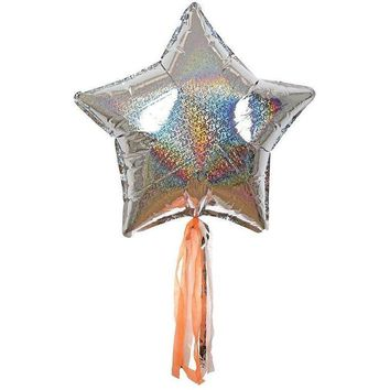 Meri Meri Silver Sparkly Star Balloon Kit