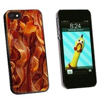 Graphics and More Bacon Snap-On Hard Protective Case for iPhone 5/5s - Non-Retail Packaging - Black
