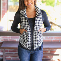 Check Marks the Spot Vest - Black and Ivory