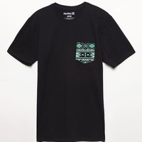 Hurley High Noon Pocket T-Shirt - Mens Tee - Black