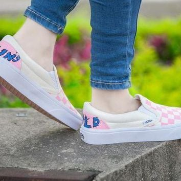 DCCKU62 Vans Slip-On Pink Women Sneaker Casual Shoes
